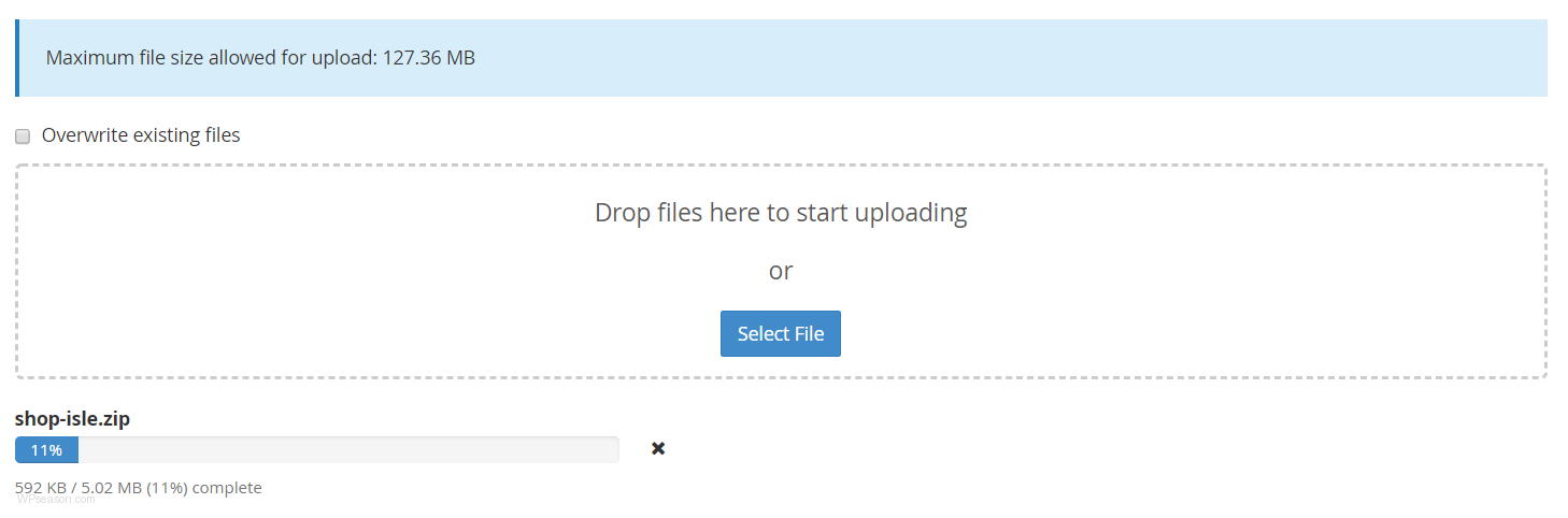 wordpress theme uploading