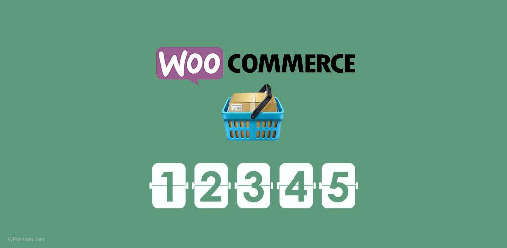 sales count in woocommerce
