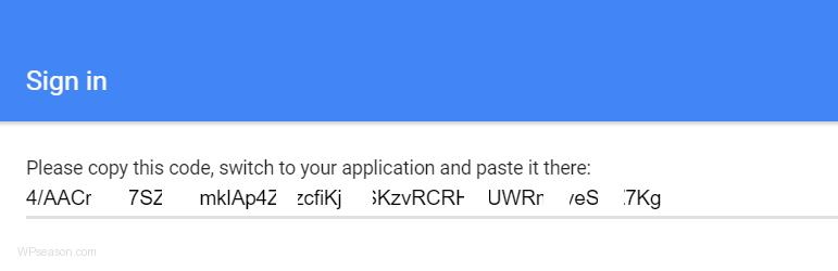 google-analytics-dashboard-for-wp-access-code