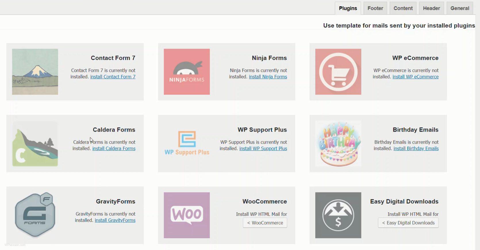 WP HTML Mail plugins