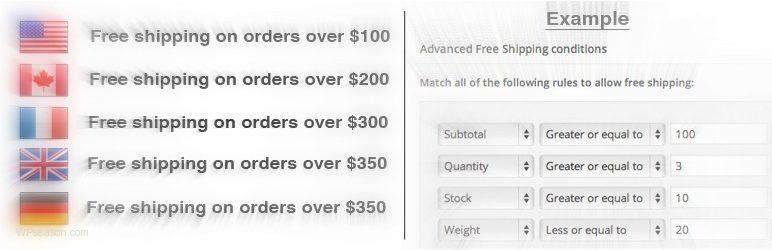 WooCommerce Advanced Free Shipping banner