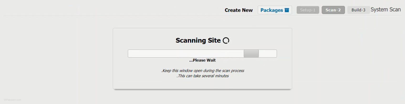 Duplicator scan