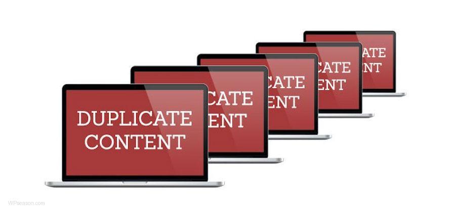 duplicate content problem