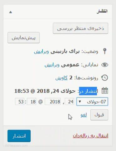 wordpress posts publish date
