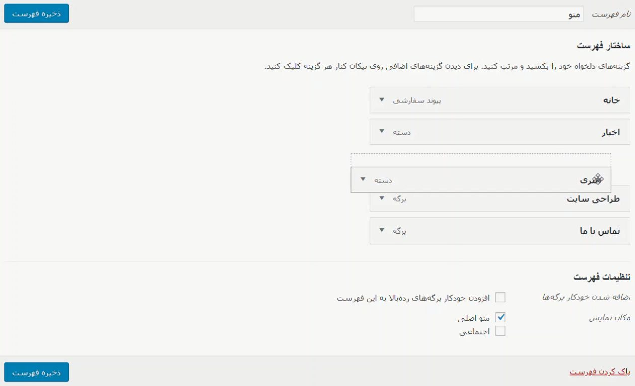 wordpress themes submenu