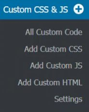 Simple Custom CSS and JS menu