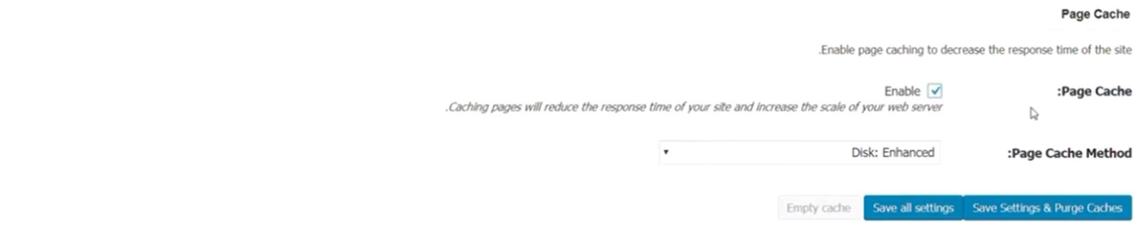 W3 Total Cache page cache