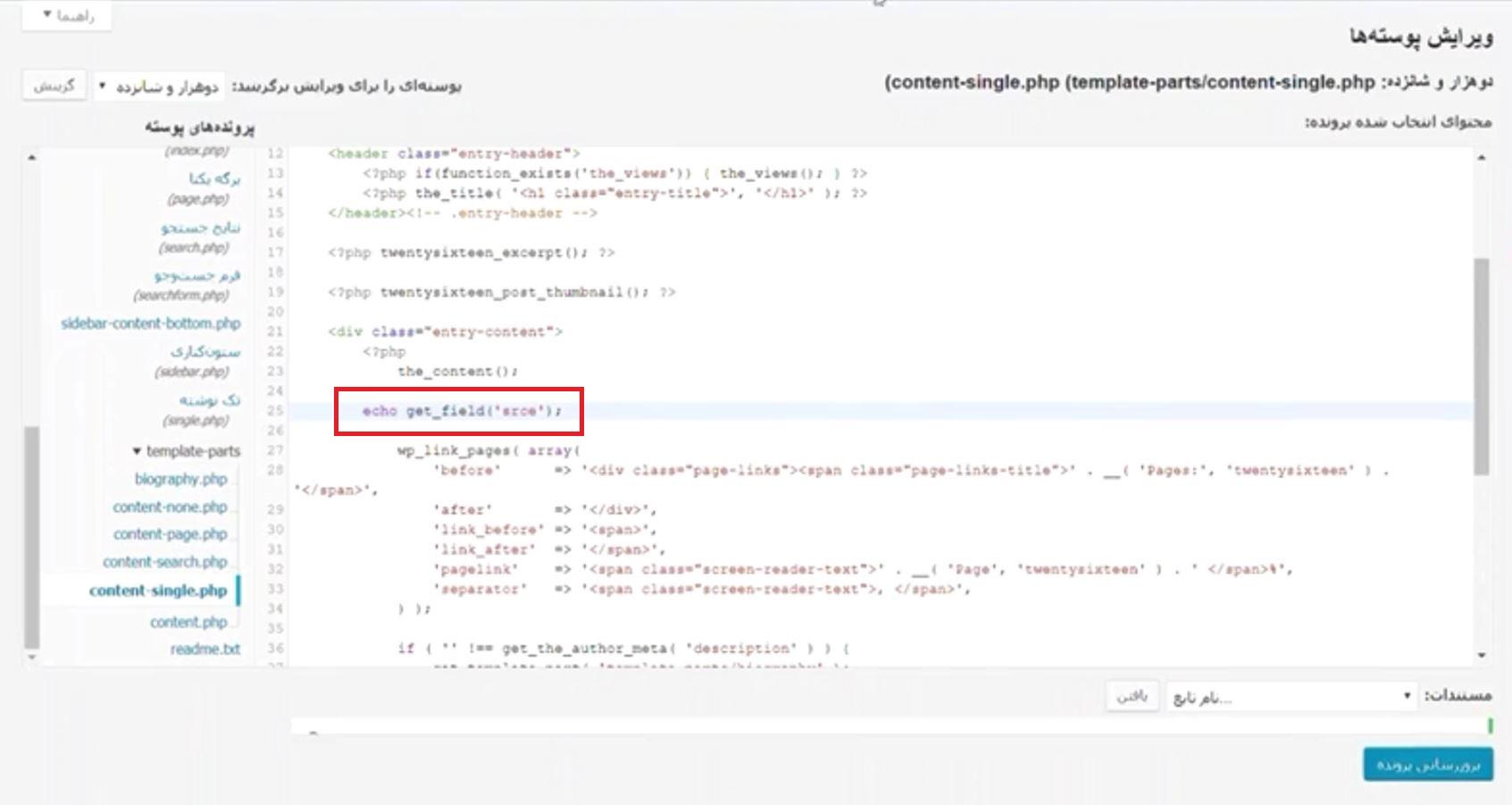 Advanced Custom Fields code