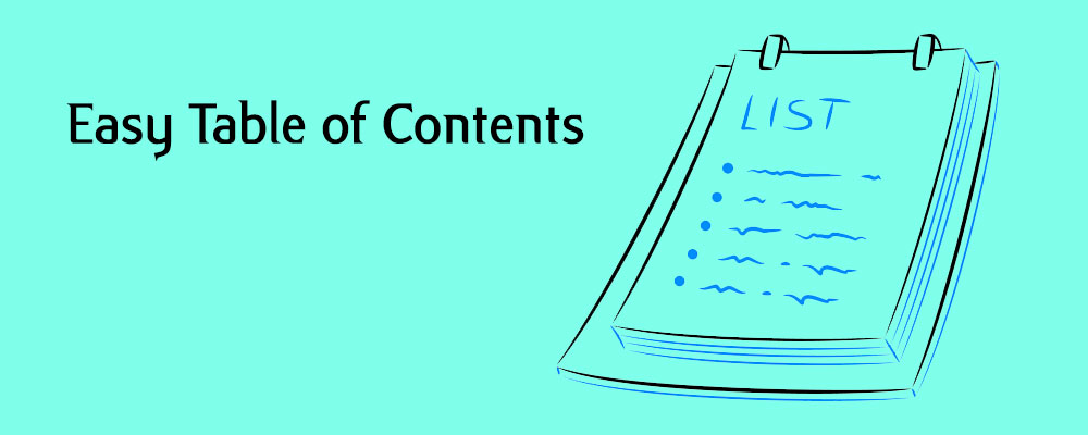 Easy Table of Contents banner