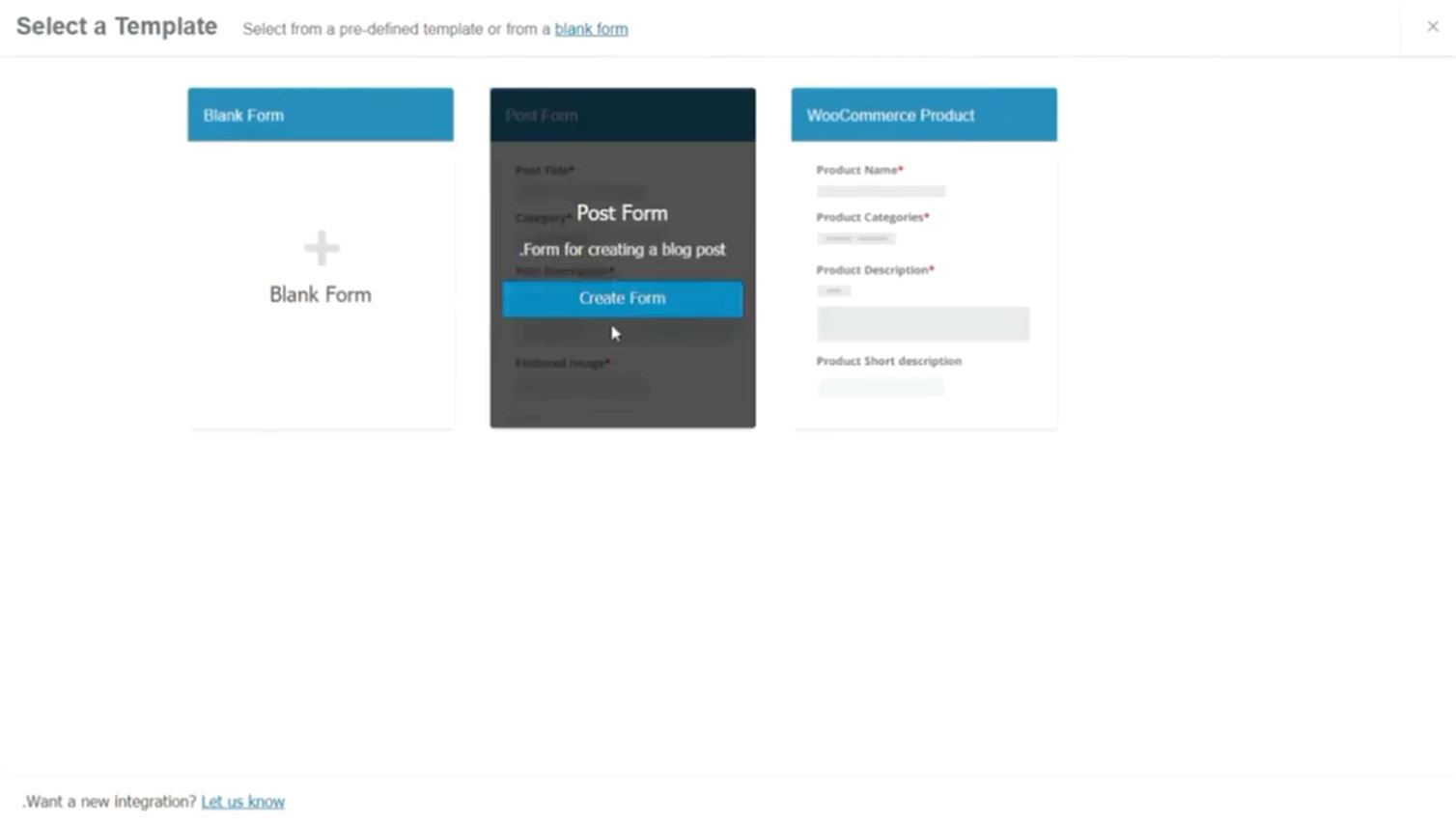 WP User Frontend select post form