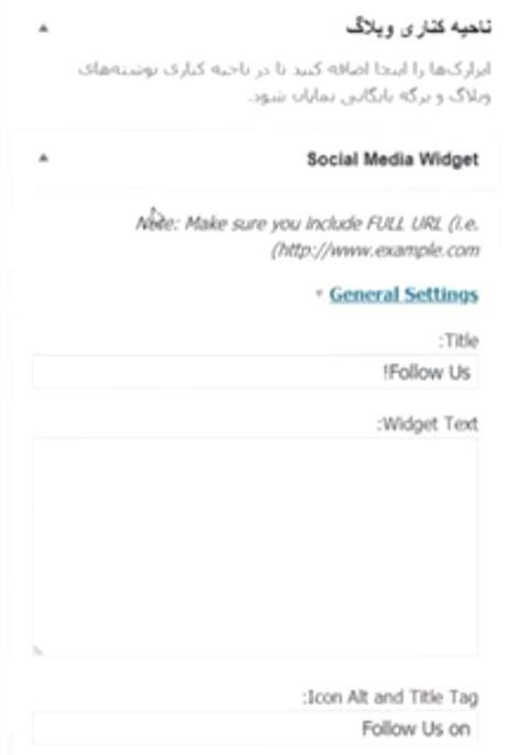 Social Media Widget widget title