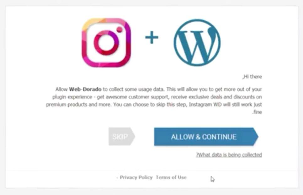 Web Social Photo Feed skip