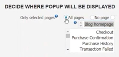 ITRO Popup Plugin display page