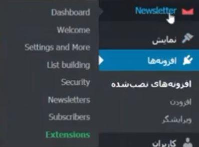 Newsletter menu