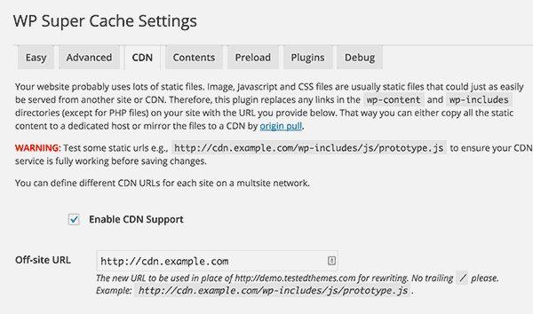 افزونه افزایش سرعت لود سایت WP Super Cache